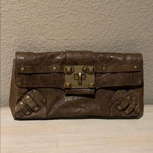 Juicy couture brown leather clutch